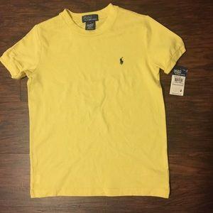 NWT Polo Ralph Lauren Boys Top Yellow Size 6